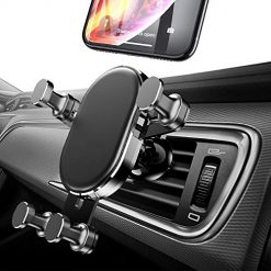 Gravity Car Phone Mount Cell Phone Holder for Car Hands Free Auto Lock Air Vent Car Phone Holder Compatible iPhone Xs MAX X XR 8 7 6 Plus Samsung S10 S10E S9 S8 Plus S7 Edge Note 8 9 LG Google