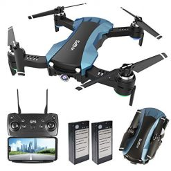 GPS Drone RC Quadcopter with 1080P Camera 5G WiFi FPV Live Video Auto-Return Home Follow Me Altitude Hold Orbit Mode Long Flight Time for Adults Kids Beginners