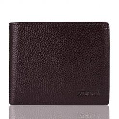 FT Funtor Mens Leather Wallet Slim Bifold Wallet with ID Windows RFID Blocking Thin Wallet For Men