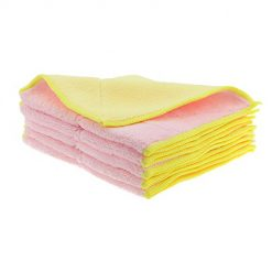 Shinyjoy 5 Pack Microfiber Dish Towels Household Kitchen Towels for  Cleaning Kitchen/Car/Glasses/Furniture Soft Dish Cloths Pink with Yellow