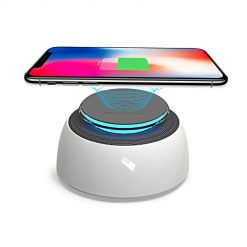 Fast Wireless Charger,Wireless Charging Pad Compatible for iPhone Xs MAX/XR/XS/X/8/8 Plus,Compatible for Samsung Galaxy Note 9/S9/S9 Plus/Note 8,Wireless Charging Station with Bluetooth Speaker