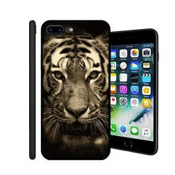 iPhone 7 Plus Case,iPhone 8 Plus Cases TPU Back Shell Pattern Designed with Soft TPU Bumper Case Fashion for Boys & Girls Apple iPhone 7/8 Plus Cases (Retro Tiger)