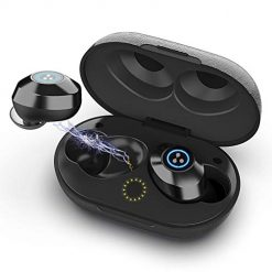 True Wireless Earbuds Syllable S105 Mini Bluetooth Earbuds V5.0 Stereo Noise Cancelling in Ear Headphones IPX7 Waterproof Sweatproof Earbuds with Mic Sports Earphones with Charging Case for Workout