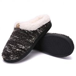 Women's House Slippers Comfort Memory Foam Fuzzy Winter Home Shoes Slip On Indoor Outdoor
