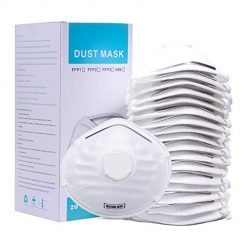 GREENPURE N95 Disposable Dust Masks with Valve(20 Pack),NIOSH-Certified Particulate Respirator for Construction,DIY Project,Gardening,Home,Woodworking,Emergency Kits