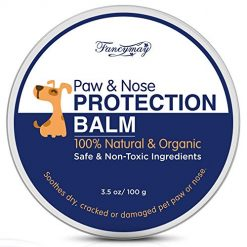 Fancymay 100 Gram Organic Paw and Nose Balm Wax for Dogs and Cats, Natural Pets Pad Protection Wax to Heal, Soothe and Protect Cracked, Rough and Dry Paws, Noses and Snouts