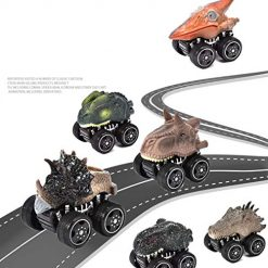 Foshin Dinosaur Vehicle Toys Dinosaur Racing Car Model Children's Toys Gift Play Vehicles 1Pc