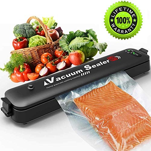 Updated 2019 Version Vacuum Sealer Machine,2 IN 1 Vacuum Sealing System with 15 Pcs Vacuum Bags,Automatic Food Sealer for Food Savers,Easy to Use & Clean | Safety Certified (Black)
