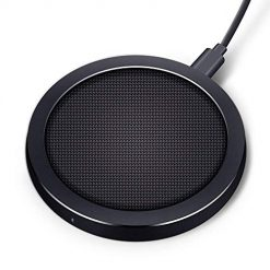 Wireless Charger - ROCK SPACE 10W Qi-Enabled Wireless Charging Pad Standard Charging for iPhone X/ 8/8 Plus, Fast Charging for Samsung Note 5/7/ 8/ S6 Edge Plus/ S7/ S7 Edge/ S8/ S8 Plus(No Adapter)