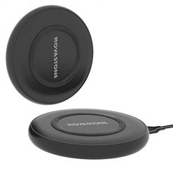 Novastone 2 pack Compatible Fast Wireless Charger/Charging Pad Replacement for X, 8/ 8 Plus, Galaxy S9,S9 Plus,S8,S8 Plus,Note8,S7,S7 Edge (Black)