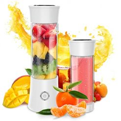 Portable Blender, Personal Smoothie and Shake Blender, Mini Blender, Electric Shaker Bottle with USB Rechargeable for Travel Outdoor and Home Kitchen (FDA, BPA free)