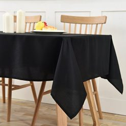 Lewing Square Table Cloth for Banquets Black 54 Inch x 54 Inch Amazon Coupon Discount Code Deals