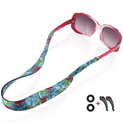Amazon Coupon Discount Code Deal: Gunxr Women Sunglass Strap Waterproof Sport-Fashion Pattern Eyeglass Straps with Swimming Diving Floating Soft Durable Neoprene Material-Glasses Strap Holder-Free Sport Retainer Hooks (Style H)