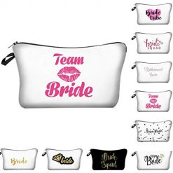 edited Printed Storage Bag Party Toiletry Pouch Cosmetic Bags