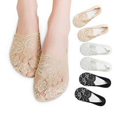 Amazon Coupon Discount Deal: Fancy Anti Slip Lace Low Cut No Show Invisible Liner Socks for Women with Silicone Heel Grip
