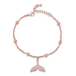 CoCuKi Classic Luxury Rose Gold Mermaid Tail Bracelet with Sparkling Cubic Zirconia Stones for Women Gift Idea for Her