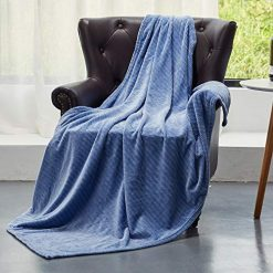 HT&PJ Soft and Comfortable Flannel Blanket Ultra Light Plush for Living Room & Bedroom Sky Blue