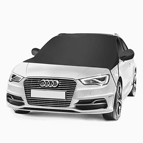 "Car Windshield Snow Cover - Waterproof Frostguard Winter Windshield Cover Windproof Windshield Summer Auto Sun Shade Fits Most Cars Truck, Vans, SUV - Size 80""x 59"" - Hailyyea"