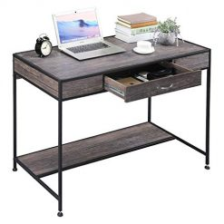 Amazon Coupon Discount Code Deal: Writing Desk,Home Office Rustic Metal MDF Wood Mid Century Large PC Table with Drawers