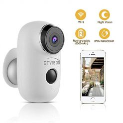 Amazon Coupon Discount Code Deal: CTVISON Indoor/Outdoor Battery Powered Security Camera,Wireless Rechargeable 6000mAh Home Surveillance WIFI Cam,Support 2-Way Audio,Night Vision w/PIR Motion Sensor & SD Slot, CCTV Video House Monitor