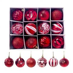 Corgy Christmas Tree Decoration Ball Pendant Decorations Ornaments Red