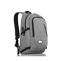 Amazon Coupon Discount Code Deal: Laptop Backpack, Travel Computer Bag for Women & Men, Slim Business Backpack/USB Charging Port Fits 17Inch Laptop & Notebook(Gray)