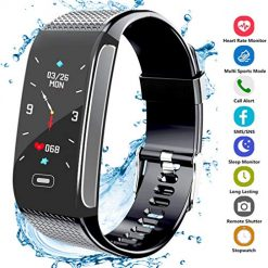 Amazon Coupon Discount Code Deal: Fitness Tracker HR, Activity Smart Bracelet Wristband with Pedometer Heart Rate Monitor Step Calorie Distance Track Waterproof IP67 Call SMS SNS Remind for Men Women Kids Compatible with Android iOS