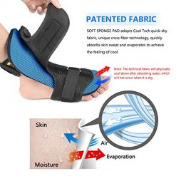 Plantar Fasciitis Night Splint Kit Ultra Breathable Cool Feeling Corrective Brace Soft Pad Massage Ball Elastic Strap Pain Relief Drop Foot Achilles Tendonitis 1
