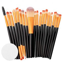 20 PCS Makeup Brush Set Tools Make-up Toiletry Kit Wool Make Up Brush Set (C) Amazon Coupon Discount Code Deals