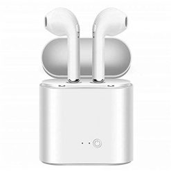 Headphones, Waterproof Sport Earbuds, Richer Bass HiFi Stereo in-Ear Earphones, Running Headphones W/CVC6.0 Noise Cancelling Mic