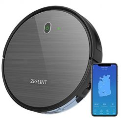 ZIGLINT D5 Robot Vacuum Cleaner, App & Remote Controls, Alexa & Google Home Connectivity, 1800Pa High Suction, Self-Charging Robotic Vacuum Cleaner for Pet Hair Hard Floor Carpets, 2-Year WarrantyZIGLINT D5 Robot Vacuum Cleaner, App & Remote Controls, Alexa & Google Home Connectivity, 1800Pa High Suction, Self-Charging Robotic Vacuum Cleaner for Pet Hair Hard Floor Carpets, 2-Year Warranty