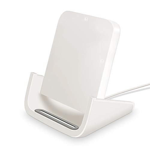 Wireless Charger, Yuwiss 10W Wireless Charging Stand Cordless Chargers Compatible with iPhone XR Max/XS/X/8/8Plus Samsung Galaxy S10/S10 Plus S9/S9 Plus/S10E/S9 Qi-Enabled Devices (White)