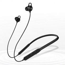 Andplay Wireless Headphones Neckband Magnetic Bluetooth Earbuds Noise Cancelling Earphones with Mic 10 Hrs Playtime Compatible with iPhone 7 /iPhone 8 Earbuds- Black