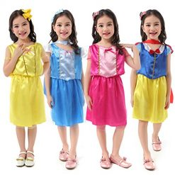 Girls Dress Up Costume Set Princess, Role Play & Dress-Up Halloween Costume Fits Sizes 3-6x -4 Pack Blue