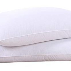 Amazon Coupon Discount Code Deal: Puredown Natural Goose Down Feather White Pillow Inserts for Sleeping 100% Cotton Fabric Cover Bed Pillows Downproof Set of 2 King Size