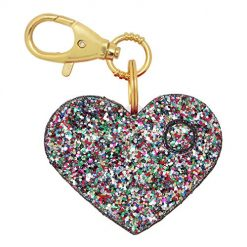 Personal Safety Alarm for Women - Ahh!-larm! Emergency Self-Defense Security Alarm Keychain with LED Light, Purse Charm, Confetti Glitter Heart