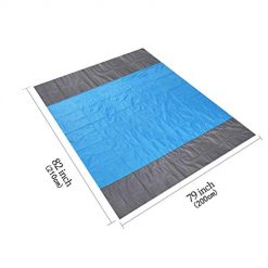 """SDUQAN Beach Blanket Sand Proof Oversized 82"""" x 79"""" Beach Mat, Portable Pocket Sandless Beach Blanket, Waterproof Picnic Blanket for Traveling, Camping, Hiking and BBQ, Quick Drying Ripstop Nylon 1"""
