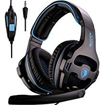 Amazon Coupon Discount Code Deal: PS4 Gaming Headsets, Sades SA810 Xbox one Gaming Headphones 3.5MM Interface with MIC in-Line Control for Multiplatform PC/Xbox one/PS4/MAC/Tablet (Black Blue)