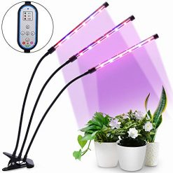 Grow Light, HALUM 36W Cycle Timing Plant Grow Light with Red/Blue Spectrum, 8 Dimmable Levels Growing Lamp, Auto ON and Off with 4/8/12H Timer for Indoor Plants