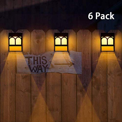 Solar Deck Lights, Led Outdoor Garden Decorative Wall Mount Fence Post Lighting-6pack