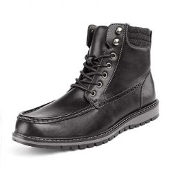 Bruno Marc Men's Apache-02 Black Faux Fur Lined Motocycle Combat Oxford Ankle Boots Size 10 M US. Amazon Coupon Discount Code Deal
