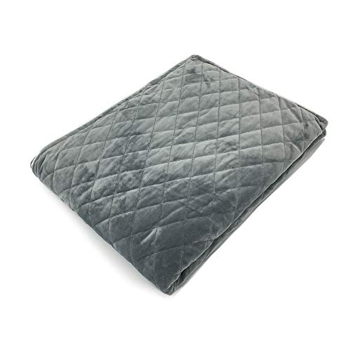 "Waowoo Weighted Blanket Duver Cover 60""x80"" (Dark Grey Quilted Rhombus, 60""x80"")"