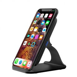Vesena 7.5W 10W Fast Wireless Charger Aluminium Stand, 7.5W Fast Charging for iPhone8/ 8Plus/ X/XR/XS/XS Max, 10W Highly Working for Samsung S7/ S8/ S9/ Note8/ Note9 and Other Qi Devices