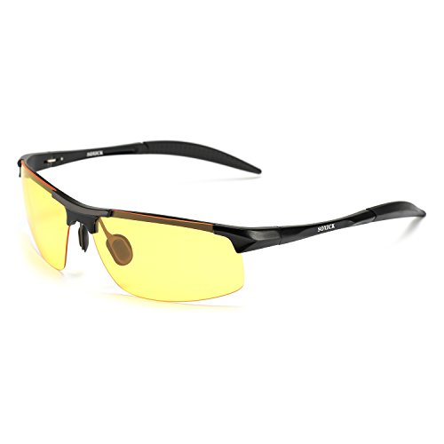Best HD Night Vision Glasses With Polarized Lenses for Men and Woman SOXICK Night Driving Glasses, HD Night Vision Glasses for Driving Anti-Glare Polarized