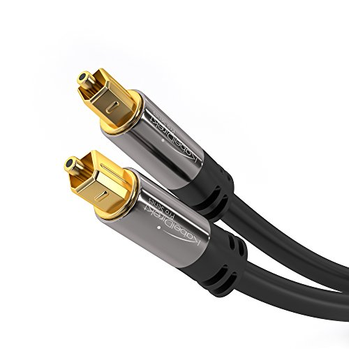 Optical Cable Reviews On Amazon. KabelDirekt Optical Digital Audio Cable (10 Feet) Home Theater Fiber Optic Toslink Male to Male Gold Plated Optical Cables Best For Playstation & Xbox - Pro Series