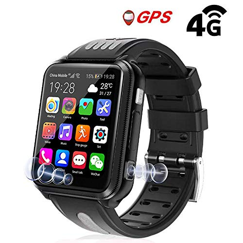 How To Text On Smartwatch? Goglor Kids Smartwatch Phone, Childrens Waterproof SOS Call GSM Sim Touch Screen 4G Smart Tracker Watch, Support WeChat Video Voice Chat/Game/APP Download/Camera/GPS/Lbs/WiFi for Kids Boys and Girls