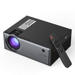 Mini Projector, BlitzWolf 2019 Upgraded Video Projector with Remote Control, 1080P Supported Portable Projector with 50,000 Hours Led Life, Compatible with TV Box, PS4, HDMI, VGA, AV, USB, Laptop, DVD