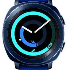 Samsung Gear Sport Texting Smartwatch SM-R600 (Bluetooth/Compatible with iPhone), Blue - International Version