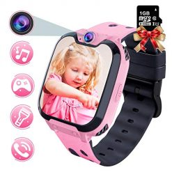 Best Smartwatch For Kids Phone At Amazon. YENISEY Kids Smart Watch - HD Touch Screen Sports Smartwatch Built in SD Card Two-Way Call Camera Games Recorder Alarm Clock Music Player Calculator for Birthday Gift Toys Children Boys Girls (Pink)