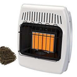 Best Natural Gas Wall Heater On Amazon, Dyna-Glo IR12NMDG-1 Wall Heater, 12,000 BTU, Natural Gas Infrared Vent-Free (Complete Set), with Microfiber Cleaner Bundle
